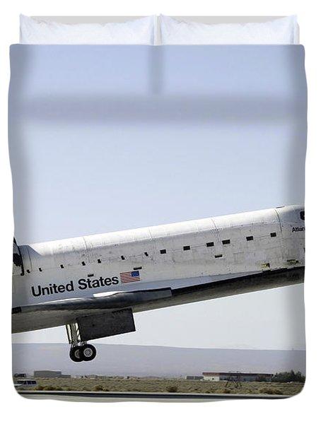 Space Shuttle Atlantis Prepares Duvet Cover by Stocktrek Images