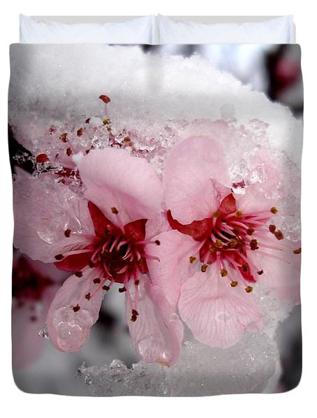 Spring Blossom Icicle Duvet Cover by Kerri Mortenson