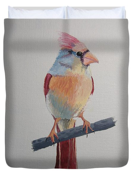 Spring Cardinal Duvet Cover by Norm Starks