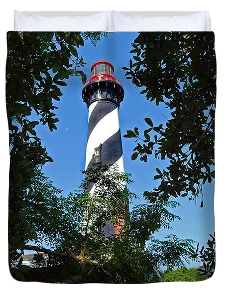 St Augustine Lighthouse Duvet Cover by Skip Willits