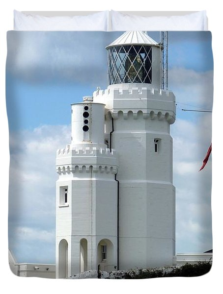 St. Catherine's Lighthouse Duvet Cover by Carla Parris