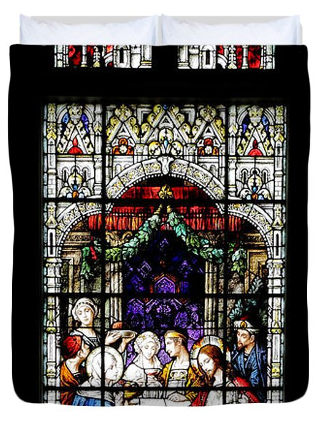 Stained Glass Window Duvet Cover by Rudy Umans
