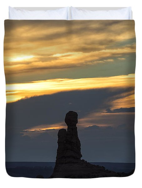 Standing Tall Duvet Cover by Sandra Bronstein