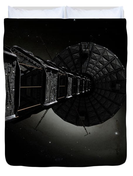 Starship Inspired By The Novels Duvet Cover by Rhys Taylor