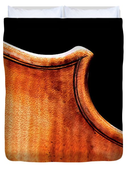Duvet Cover featuring the photograph Stradivarius Back Corner by Endre Balogh