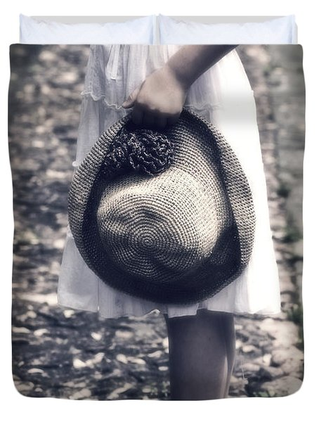 Straw Hat Duvet Cover by Joana Kruse