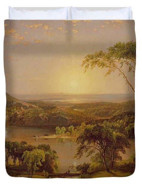 Summer Lake Ontario Duvet Cover by Jasper Francis Cropsey