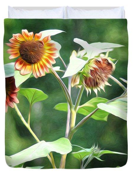 Sunflower Power Duvet Cover by Bill Cannon