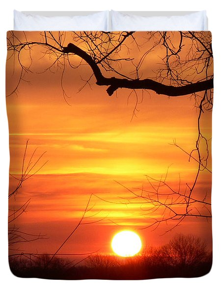 Sunrise In Tennessee Duvet Cover by EricaMaxine  Price