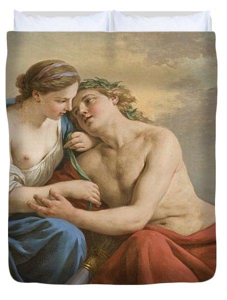 Sunset Duvet Cover by Louis Jean Francois I Lagrenee
