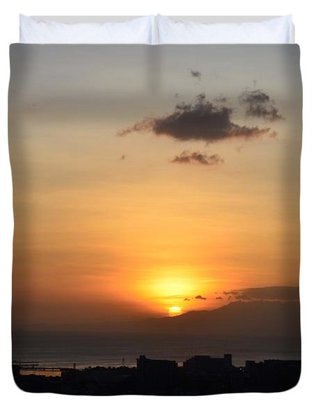 Sunset Upon The Ocean  Duvet Cover