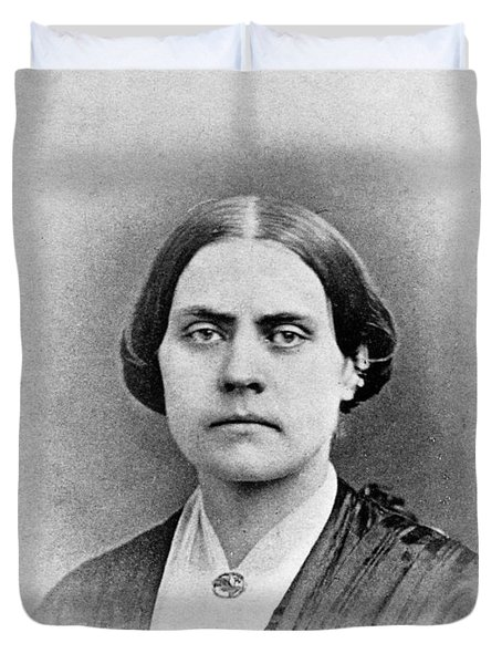 Susan B. Anthony, American Civil Rights Duvet Cover by Photo Researchers, Inc.