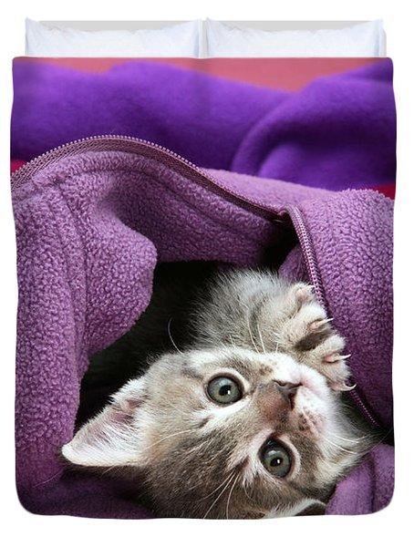 Tabby Kitten Duvet Cover by Jane Burton