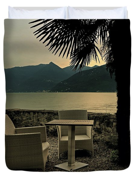 Table And Chairs Duvet Cover by Joana Kruse