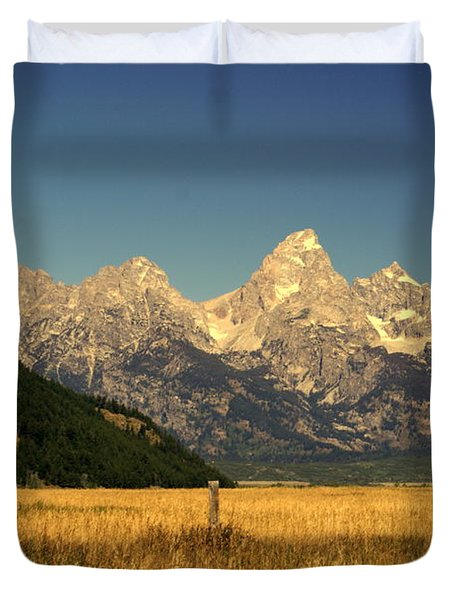 Duvet Cover featuring the photograph Tetons 3 by Marty Koch