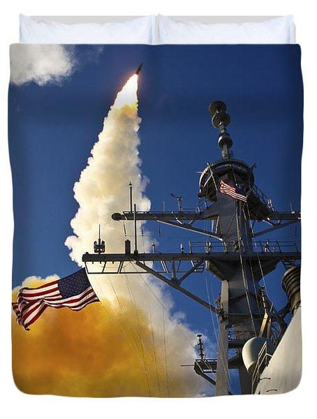The Aegis-class Destroyer Uss Hopper Duvet Cover