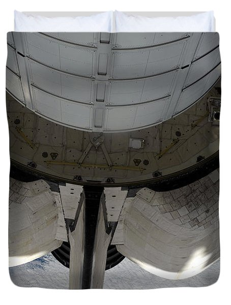 The Aft Portion Of The Space Shuttle Duvet Cover by Stocktrek Images