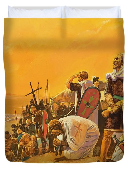 The Crusades Duvet Cover by Gerry Embleton