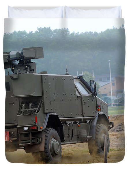 The Dingo 2 In Use By The Belgian Army Duvet Cover by Luc De Jaeger