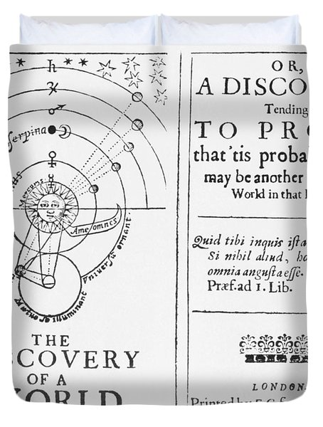 The Discovery Of A World In The Moone Duvet Cover by Science Source