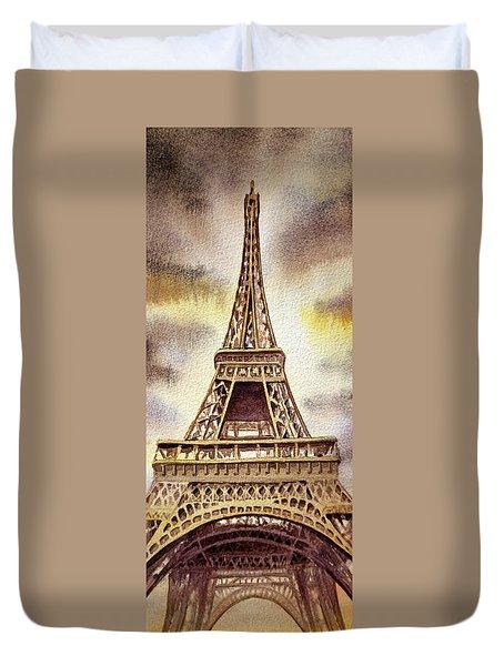The Eiffel Tower  Duvet Cover by Irina Sztukowski