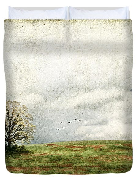 The Lone Tree Duvet Cover by Darren Fisher