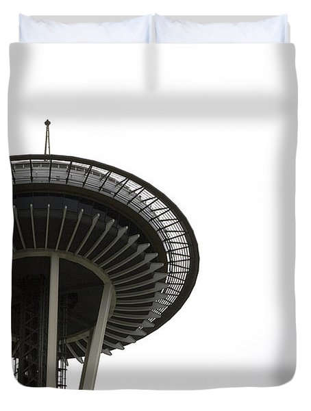 Duvet Cover featuring the photograph The Needle by Lorraine Devon Wilke