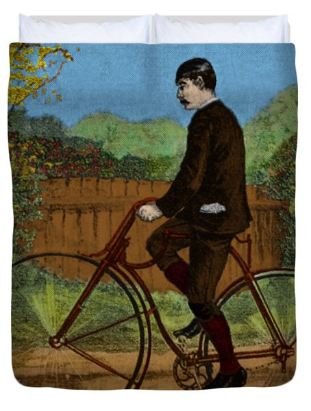 The Rover Bicycle Duvet Cover by Science Source