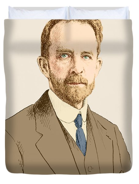 Thomas Hunt Morgan, American Geneticist Duvet Cover by Science Source