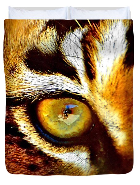 Tigers Eye Duvet Cover by Marlo Horne