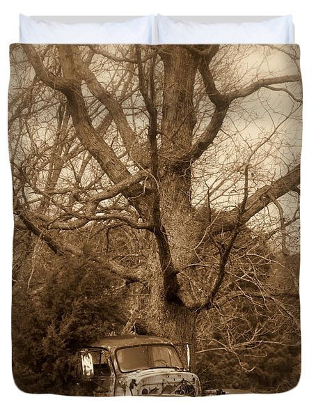 Times Past Duvet Cover by Marty Koch