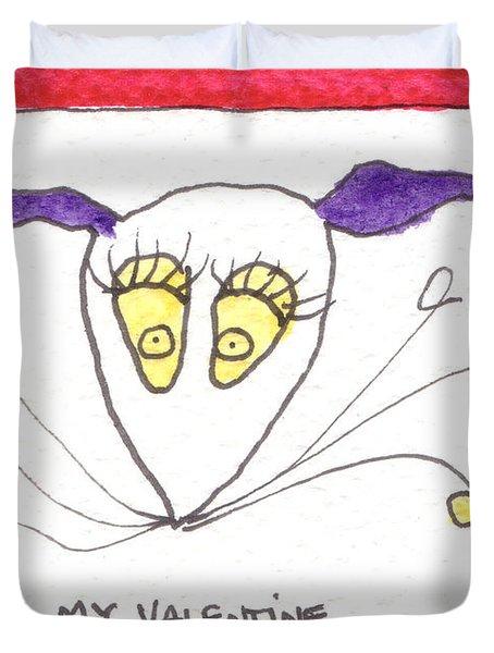 Tis Be My Valentine Duvet Cover by Tis Art