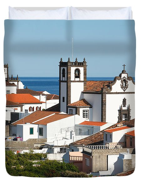 Town By The Sea Duvet Cover by Gaspar Avila