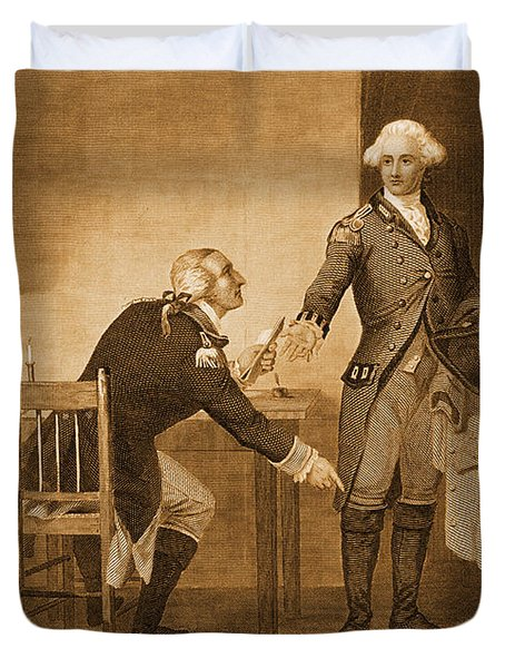 Treason Of Benedict Arnold, 1780 Duvet Cover by Photo Researchers