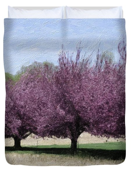 Trees On Warwick Duvet Cover by Trish Tritz