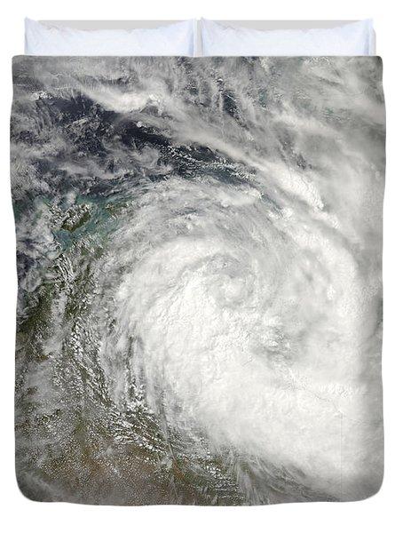 Tropical Cyclone Paul Over Australia Duvet Cover