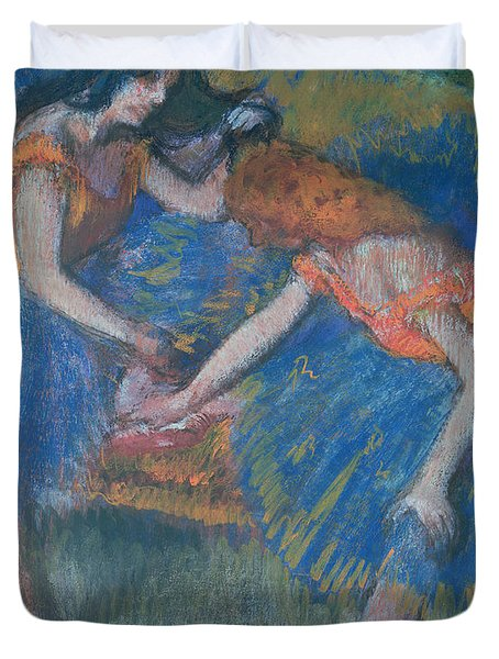 Two Dancers Duvet Cover by Edgar Degas