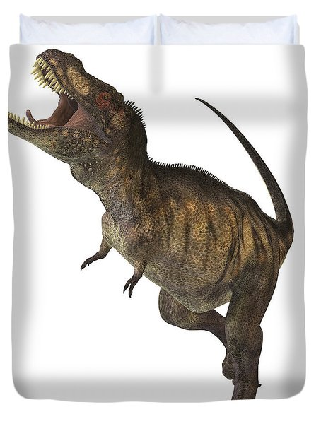 Tyrannosaurus Rex Duvet Cover by Corey Ford