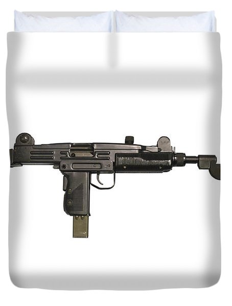 Uzi 9mm Submachine Gun With Attached Duvet Cover by Andrew Chittock
