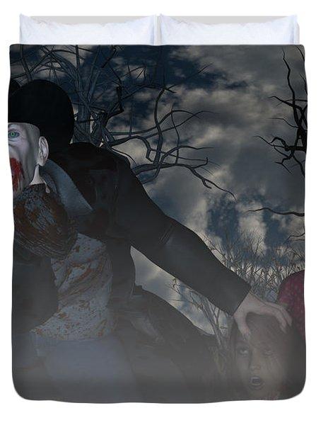 Vampire Cowboy Duvet Cover