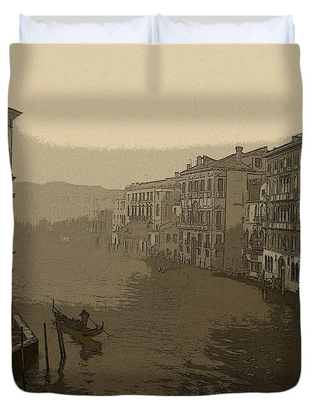 Duvet Cover featuring the photograph Venice by David Gleeson