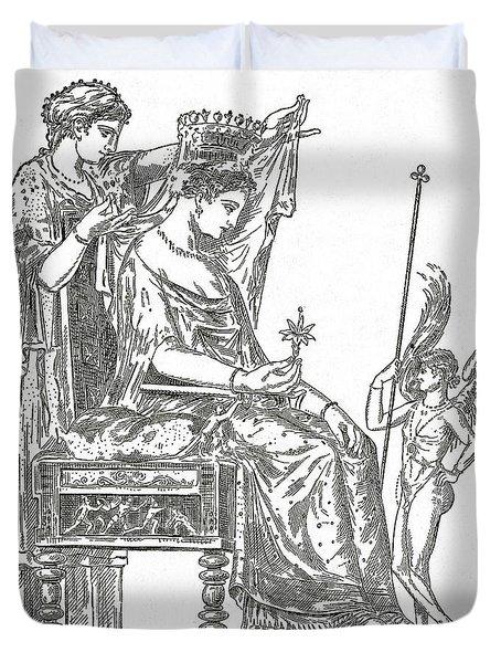 Venus, Roman Goddess Of Love Duvet Cover by Photo Researchers