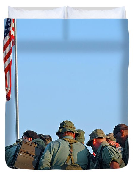 Veterans Remember Duvet Cover by Carolyn Marshall