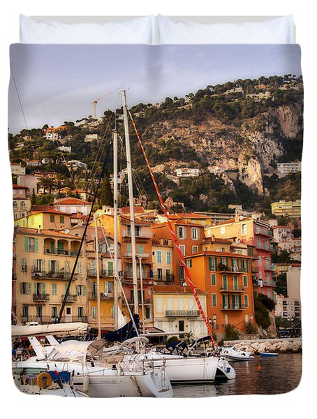 Duvet Cover featuring the photograph Villefranche-sur-mer  by Steven Sparks