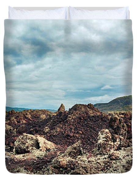 Volcano Batur Duvet Cover by MotHaiBaPhoto Prints
