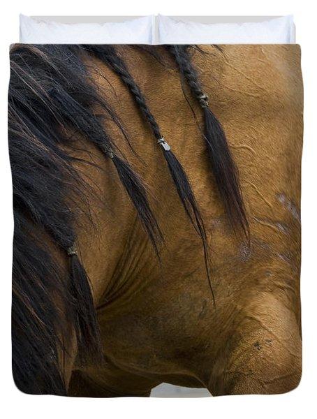 Duvet Cover featuring the photograph War Horse by Lorraine Devon Wilke
