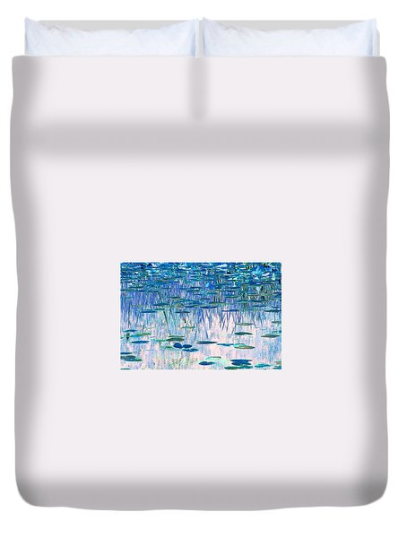 Duvet Cover featuring the photograph Water Lilies by Chris Anderson