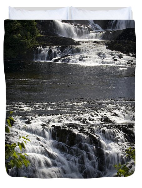 Water Rushes Down Bakers Brook Falls Duvet Cover
