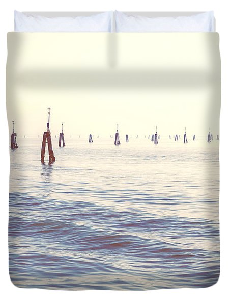 Waterway In The Lagoon Of Venice Duvet Cover by Joana Kruse