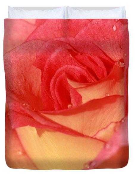 Wet Rose Duvet Cover by Sabrina L Ryan